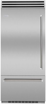 BlueStar BBB36L2 36 Built In Bottom Freezer Refrigerator with Stainless Steel Interior & OLED Touchscreen Control (Left)