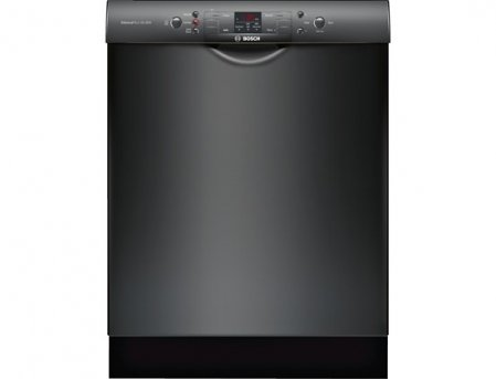 "Bosch SGE53U56UC 24"" 300 Series Energy Star Rated Dishwasher with 13 Place Setting Capacity in Black"
