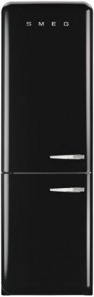 FAB32UBLLN | Smeg 50s Retro Style Refrigerator with Automatic Freezer (Black, Left Hinge)