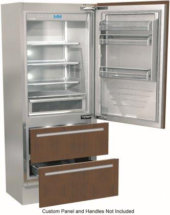 Fhiaba FI36BDIRO 36 Counter Depth Bottom Freezer Refrigerator with 19.5 cu. ft. Total Capacity (Custom Panel Ready)
