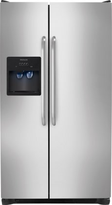Frigidaire FFSS2314QS 33 22.1 cu. ft. Side by Side Refrigerator with Sliding Spill-Safe Glass Shelves  Adjustable Interior Storage  Ready-Select Controls and PureSource