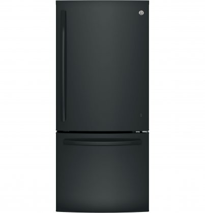 GE GBE21DGKBB Energy Star Qualified Bottom-Freezer Refrigerator with 20.9 Cu. Ft. Capacity, in Black