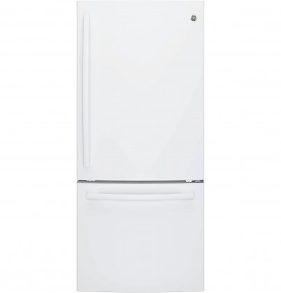 GE GBE21DGKWW Bottom Freezer Refrigerator (White)