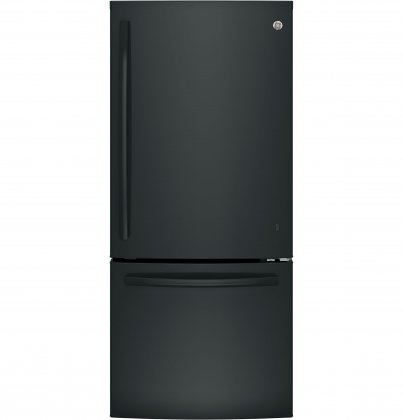 GE GDE21EGKBB 30 Energy Star Freestanding Bottom Freezer Refrigerator with 20.9 cu. ft. Capacity (Black)