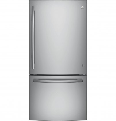 "GE GDE25ESKSS 33"" Energy Star Freestanding Bottom Freezer Refrigerator with 24.9 cu. ft. Capacity (Stainless Steel)"