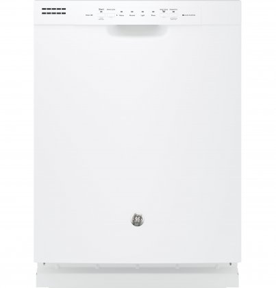GE GDF510PGJWW 24 Built In Full Console Dishwasher with 4 Wash Cycles, in White