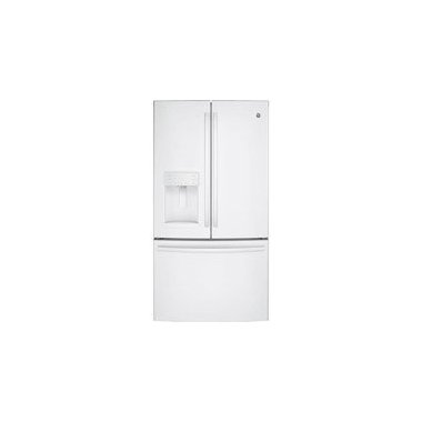 GE GFE26GGKWW French-Door Bottom Freezer Refrigerator (White)