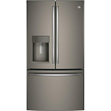 GE GFE28GMKES 36 Freestanding French-door Refrigerator with 27.8 Cu. Ft. Capacity, in Slate