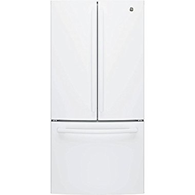 GE GNE25JGKWW French Door Refrigerator (White)