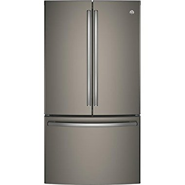 "GE GNE29GMKES 36"" Freestanding French-door Refrigerator with 28.5 Cu. Ft. Capacity, in Slate"