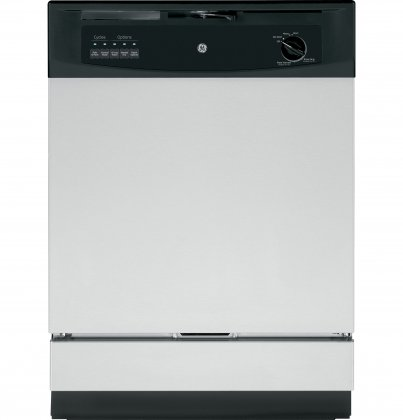 GE GSD3360KSS 24 Built In Full Console Dishwasher with 5 Wash Cycles, in Stainless Steel