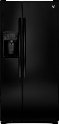 GE GSE23GGKBB 33 Side by Side Refrigerator with 23.2 cu. ft. Capacity, Multi-Level Drawers, Arctica Icemaker, Spillproof Glass Shelves, and Gallon Storage