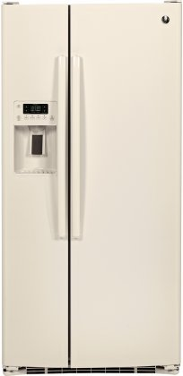 GE GSE23GGKCC 33 Side by Side Refrigerator with 23.2 cu. ft. Capacity, Multi-Level Drawers Arctica Icemaker Spillproof Glass Shelves and Gallon Storage