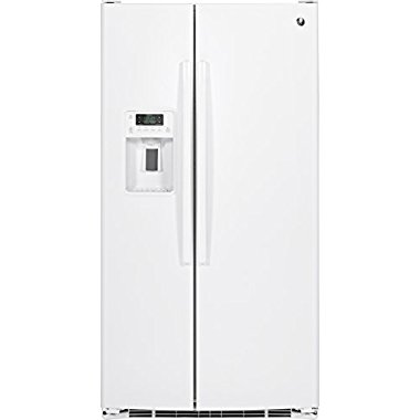 GE GSE25GGHWW 25.4 Cu. Ft. White Side-By-Side Refrigerator Energy Star