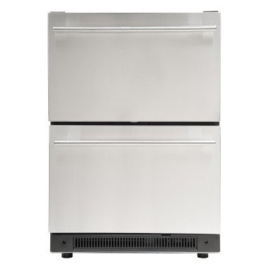 Haier DD410RS 24 Inch Built-In Dual Refrigerator Drawers with 5.4 cu. ft. Capacity, in Stainless Steel