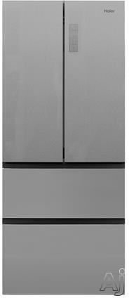 Haier HRF15N3BGF 15 cu. ft. Four French Door Bottom Mount Refrigerator