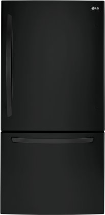 LG LDCS24223B 33 Bottom Freezer Refrigerator with 24 cu.ft. Capacity