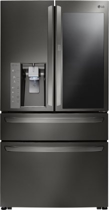 LG LMXC23796D 36 French Door Counter Depth Refrigerator with 22.7 cu. ft. Capacity  InstaView Door-in-Door with ColdSaver Panel  Slim SpacePlus Ice System
