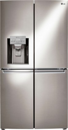 LG LNXC23726S 36 Energy Star Counter Depth French Door Refrigerator with 23 cu. ft. Capacity  in Stainless