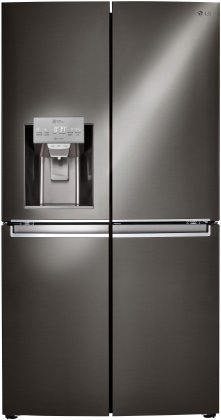 LG LNXS30866D French Door Refrigerator with 30 cu. ft. Capacity  Door in Door  Ice and Water Dispenser  in Black Stainless