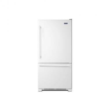 Maytag MBF1958FEW 30 Bottom Mount Freezer Refrigerator with 18.67 cu. ft. Total Capacity
