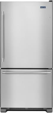 Maytag MBF2258FEZ 33 Bottom Mount Freezer Refrigerator with 22.07 cu. ft. Total Capacity