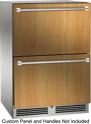 Perlick HP24ZS-3-6 24 Signature Series Indoor Dual Zone Refrigerator/Freezer Drawers with 5 cu. ft. Capacity
