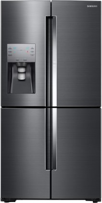 Samsung RF22K9381SG 36 4-Door Counter-Depth Refrigerator with 22 cu. ft. Capacity  Water and Ice Dispenser  FlexZone  Food Showcase and Triple Cooling System in Black