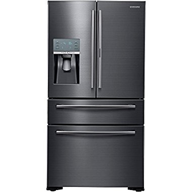 Samsung RF22KREDBSG 22.4 Cu. Ft.  French Door FoodShowcase Counter Depth Refrigerator (Black Stainless)