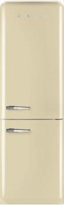 Smeg FAB32UCRRN 24 50's Retro Style Bottom Freezer Refrigerator with 10.74 cu. ft. Capacity (Right Hinge)