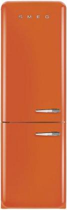 Smeg FAB32UORLN 24 24 50's Retro Style Bottom Freezer Refrigerator with 10.74 cu. ft. Capacity (Orange, Left Hinge)