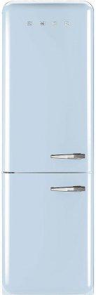 Smeg FAB32UPBLN 24 50's Retro Style Bottom Freezer Refrigerator with 10.74 cu. ft. Capacity (Blue, Left Hinge)