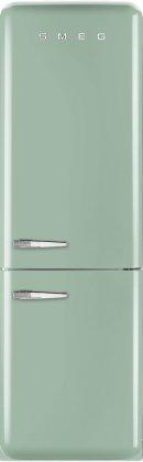 Smeg FAB32UPGRN 24 50's Retro Style Bottom Freezer Refrigerator with 10.74 cu. ft. Capacity (Right Hinge)