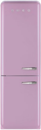 Smeg FAB32UPKLN 24 50's Retro Style Bottom Freezer Refrigerator with 10.74 cu. ft. Capacity (Left Hinge)