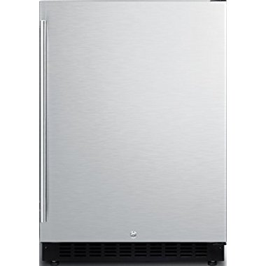 Summit AL54 24 ADA Compliant Commercial Compact Refrigerator with 4.8 cu. ft. Capacity, Factory Installed Lock, Door Storage, Open Door and High Temperature Alarm (Stainless)