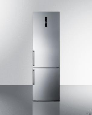 Summit FFBF181ES Bottom Freezer Refrigerator with 12.8 cu. ft., Wine Rack (Stainless Steel)