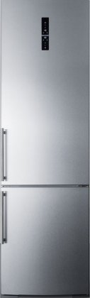 Summit FFBF181ESBIIM 24 Bottom Freezer Refrigerator with 12.8 cu. ft. Capacity  ZeroZone Deli Drawer  Wine Shelf  Adaptive Intelligent Technology  Digital Thermostat