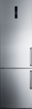 Summit FFBF181ESLHD 24 Bottom Freezer Refrigerator with 12.5 cu. ft. Capacity, Digital Thermostat,  Wine Rack