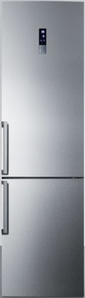 Summit FFBF191SS Slim-Fit 24 Counter-Depth Bottom Freezer Refrigerator (Stainless Steel)