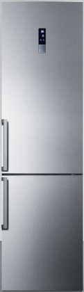 Summit FFBF191SSIM 24 Counter-Depth Refrigerator with Bottom Freezer