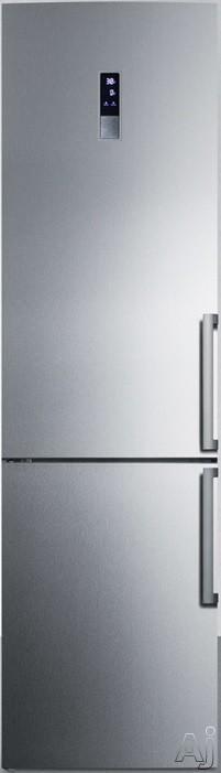 Summit FFBF191SSLHD 24 Energy Star Bottom Freezer Refrigerator with 13.3 cu. ft. Capacity (Left Hinge, Stainless Steel)