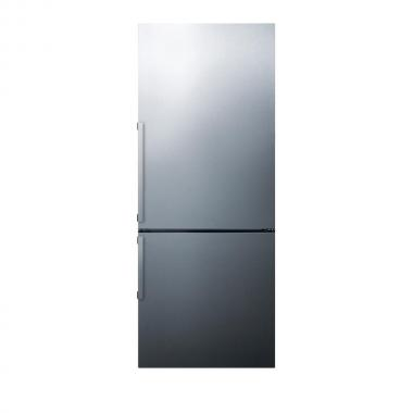 Summit FFBF287SSIM 28 Energy Star Bottom Freezer Refrigerator with 16.4 cu. ft. Capacity, Wine Rack