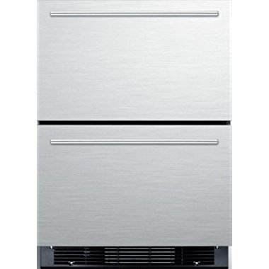 Summit SPRF2D5IM 24 Drawer Refrigerator with 4.9 cu. ft. Capacity Bottom Freezer, Professional Handles (Stainless Steel)