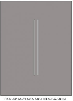 Thermador Freedom Panel Ready 60 Built-In Refrigeration Set with T30IR800SP 30 All Refrigerator and T30IF800SP 30 All