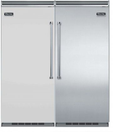 Viking 72 Built-In Side by Side Refrigerator/Freezer Combo with VCRB5363LSS 36 All Refrigerator and VCFB5363RSS 36 All