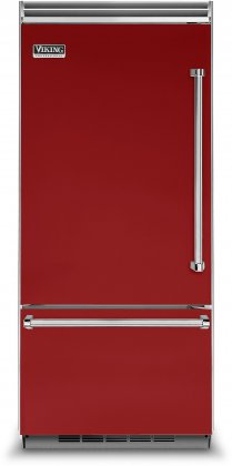 Viking VCBB5363ELAR 36 Professional 5 Series Bottom Freezer Refrigerator with 20.4 cu. ft. Capacity