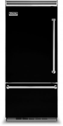 Viking VCBB5363ELBK 36 Professional 5 Series Bottom Freezer Refrigerator with 20.4 cu. ft. Capacity