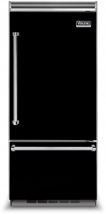 Viking VCBB5363ERBK 36 Professional 5 Series Bottom Freezer Refrigerator with 20.4 cu. ft. Capacity