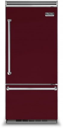 Viking VCBB5363ERBU 36 Professional 5 Series Bottom Freezer Refrigerator with 20.4 cu. ft. Capacity  ProChill Temperature Management  LED Lighting and Filter-Free
