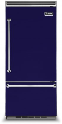 Viking VCBB5363ERCB 36 Professional 5 Series Bottom Freezer Refrigerator with 20.4 cu. ft. Capacity  ProChill Temperature Management  LED Lighting and Filter-Free